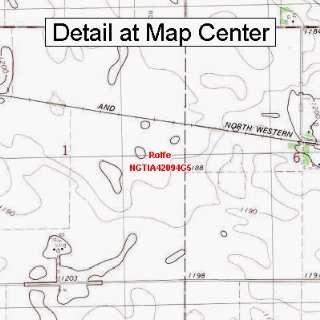 USGS Topographic Quadrangle Map   Rolfe, Iowa (Folded/Waterproof