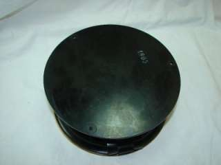 Seth Thomas US Navy Ship Deck Clock Black Round Bakelite Case 1942