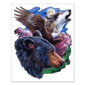Small Poster Bear Bald Eagle and Wolf: Everything Else