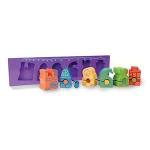 Wooden Puzzle Train Toys & Games