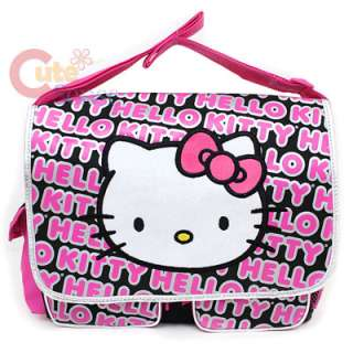 Hello Kitty School Messenger Bag / Diaper Bag Big Face & Typo