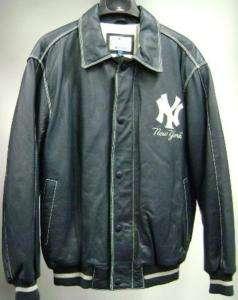 New York Yankees Throwback Leather Jacket 881674797478