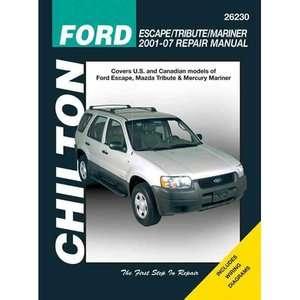 Ford Escape/Tribute/Mariner Repair Manual Covers All U.S