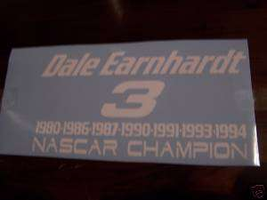 Dale Earnhardt NASCAR Champion decal, sticker,