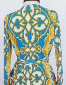 Hale Bob Floral Jersey Wrap Dress S 4 6 8 UK 10 12 NWT Fun in the Sun