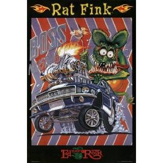 Rat Fink   Boss Mustang   Big Daddy Ed Roth 12x18 Poster