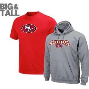 San Francisco 49ers Big & Tall Standard Set T Shirt and Hooded