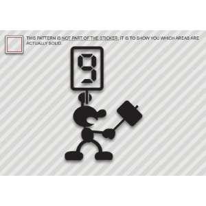 (2x) Mr Game & Watch Judge   G&W   Sticker   Decal   Die