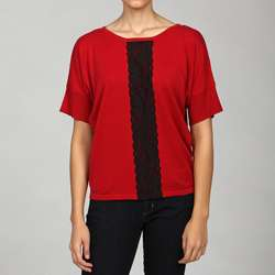 Cable & Gauge Womens Dolman sleeve Lace Top Today $16.99