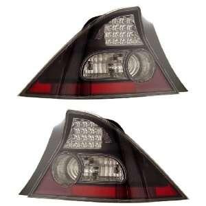 HONDA CIVIC 04 05 2 DR LED TAIL LIGHT BLACK NEW