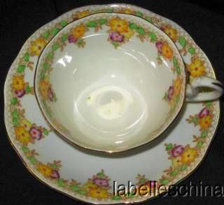 Royal Albert Crown China Teacup and Saucer Trellis Tea cup and Saucer