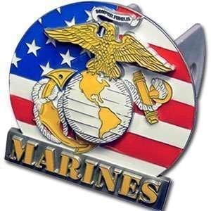 Marines 3 D Logo Trailer Hitch Cover   NCAA College Athletics Fan Shop