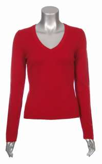 Sutton Studio Womens 100% Pure Cashmere Solid V Neck Sweater