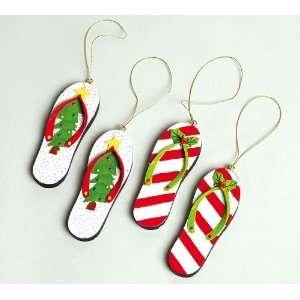 Coastal Holiday Christmas Tree Flip Flop Ornament