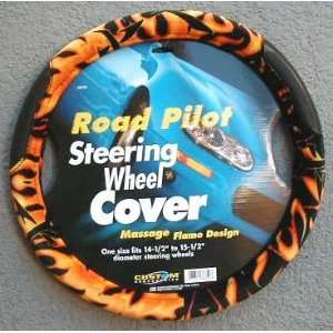 Hot Rod Flames Steering Wheel Cover Automotive