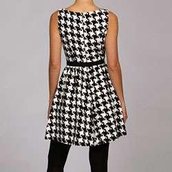 Jessica Simpson Womens Retro Houndstooth Dress