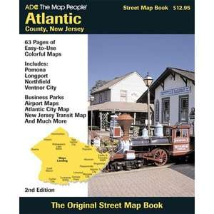 Maps, Atlantic City Map, New Jersey Tran, ADC the Map People ARCHIVE