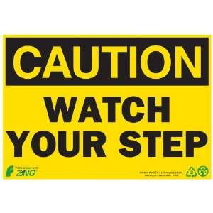 STEP, 10 Width x 7 Length, Recycled Plastic, Black on Yellow (Pack