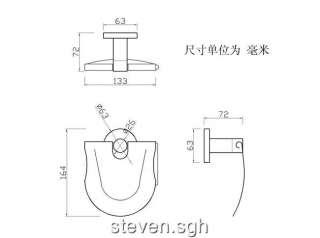 Luxury Chrome Bathroom Toilet Paper Roll Holder H 05