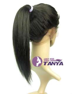 Straight #2 _100% Indian Remy Human Hair Full Lace Wig high PONYTAIL