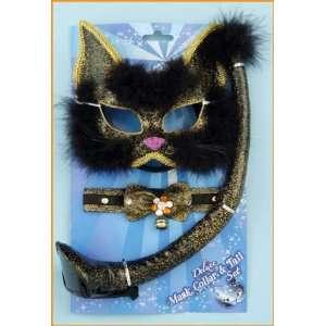 Glitter White Kitty Cat Kit Costume Masquerade [Toy] Toys & Games