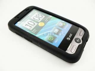 HTC FREESTYLE AT&T BLACK SILICONE SOFT GEL COVER CASE