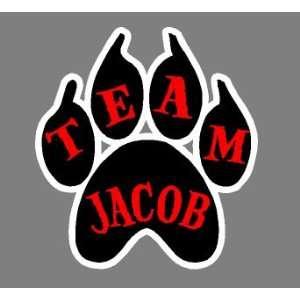 Team Jacob Paw Print Bumper Sticker Decal