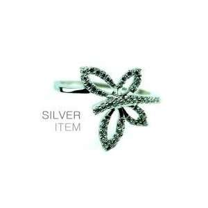 Silver Cubic Zirconia Butterfly Ring Lowest Price Jewelry