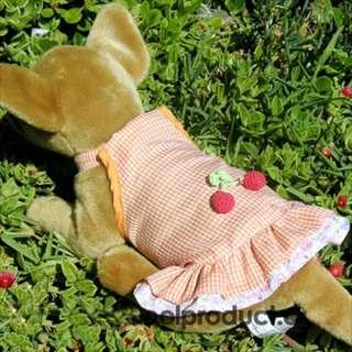 Orange Cherry Dress Skirt dog clothes APPAREL Chihuahua