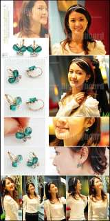New Fashion Beautiful Butterfly Rhinestone Earrings |