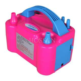 Double Pump Balloon Inflator Electric Balloon Pump Portable Blower