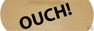 Ouch Vinyl Car Bandaid Bumper Sticker Funny