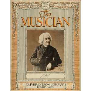 1915 Cover Musician Hungarian Piano Compose Franz Liszt