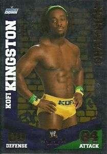 Topps WWE Slam Attax Mayhem Kofi Kingston Foil Champion