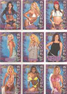 2001 WWF CHAMPIONSHIP CLASH FEMALES 9 CARD SET WWE DIVA