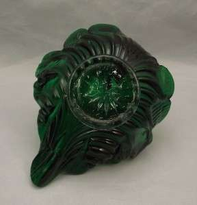 Emerald Green Murano Glass Swan Bowl~Dish