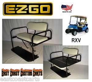 EZGO RXV Golf Cart Rear Flip Down Seat Kit STONE (FAST