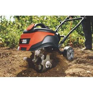 TL10 8.3 Amp 6 in Front Tine Electric Tiller  Black & Decker Lawn