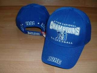 DUKE BLUE DEVILS 3X BASKETBALL CHAMPIONS CAP HAT OSFA