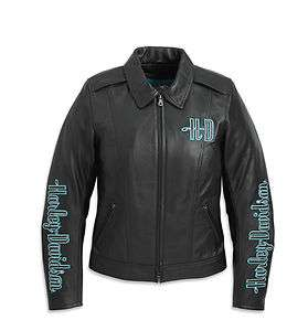HARLEY DAVIDSON WOMENS LEATHER JACKET MISTY RIDGE PART 97055 11VW