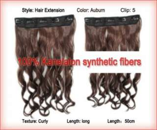 Synthetic Hair Extension Clip in Hairpiece Hairband Long Wavy Curly