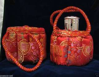 Carry Bag Purse for Mini Catalytic Fragrance Lamp Red