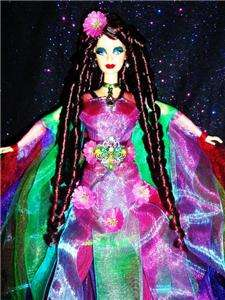 Hummingbird Beauty barbie doll ooak Beauty of Nature ringlets