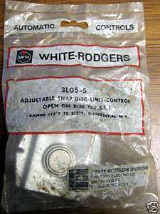 WHITE RODGERS Adjustable Snap Disc Limit Control 3L05 5