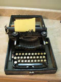 Antique CORONA STANDARD FOLDING TYPEWRITER 1910 Early