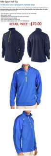 NWT Nike Storm FIT Sport Half Zip Mens Golf Wind Jacket Blue Medium $