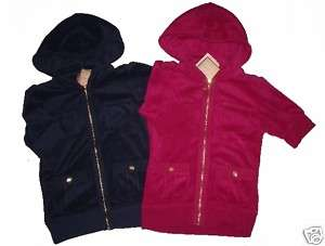 NWT~JUICY COUTURE~WOMENS~TERRY HOODIE JACKET~SMALL~2/4