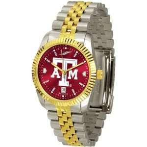 Texas A&M Aggies TAMU NCAA Mens 23Kt Executive Watch