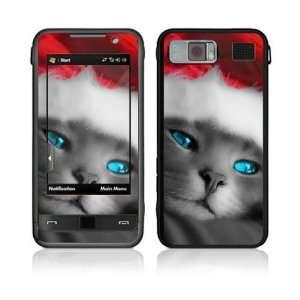 Samsung Omnia (i910) Decal Skin   Christmas Kitty Cat