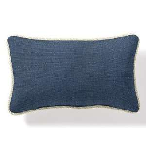 Outdoor Outdoor Lumbar Pillow in Sunbrella Blue with Cording